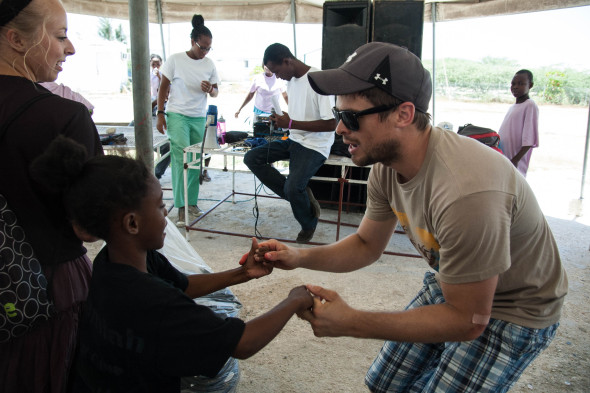 Blake on a mission trip in Haiti
