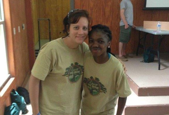 Shauna volunteering at Camp Rise Above