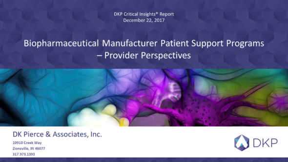 Biopharmaceutical Manufacturer Patient Support Programs – Provider Perspectives